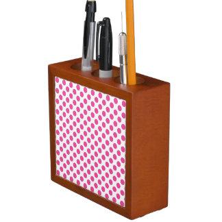 Porta-lápis Bolinhas cor-de-rosa