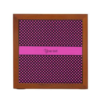 Porta Lápis Bolinhas cor-de-rosa