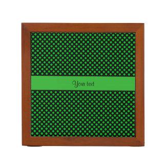 Porta Lápis Bolinhas verdes