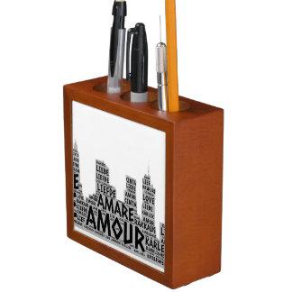 Porta-lápis Brooklyn New York ilustrada com palavra do amor