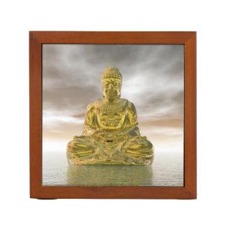 Porta Lápis Buddha dourado - 3D rendem