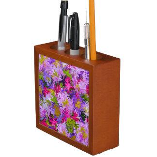 Porta Lápis Buquê do design floral da arte abstracta das cores