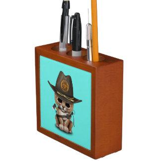 Porta-lápis Caçador bonito do zombi de Cub de leão