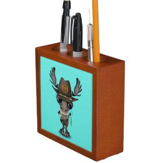 Porta-lápis Caçador do zombi dos alces do bebê