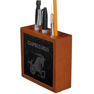 Porta-lápis Capricórnio translúcido
