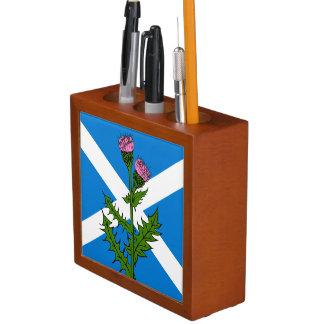 Porta-lápis Cardo escocês