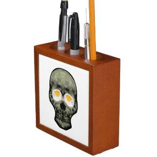 Porta-lápis Crânio com olhos do ovo frito