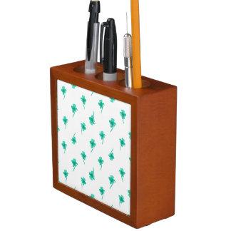Porta-lápis Design do teste padrão da silhueta das flores