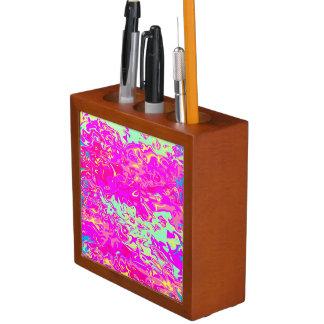 Porta Lápis Design Marbleized brilhante das cores no