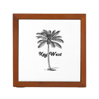 Porta-lápis Design preto e branco de Key West Florida & da