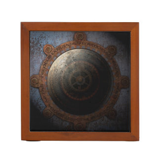 Porta Lápis Engrenagens do metal da horas da lua de Steampunk