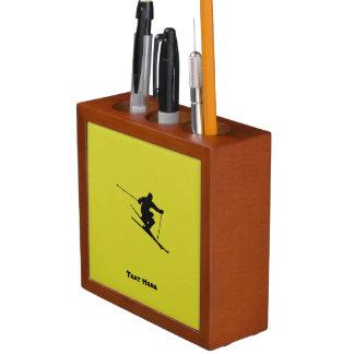 Porta Lápis Esquiador