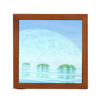 Porta-lápis Etapas no oceano - 3D rendem