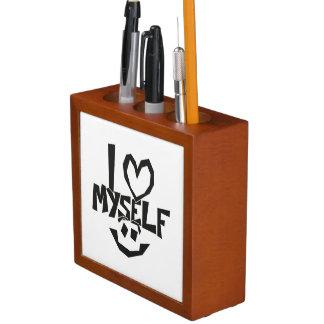 Porta-lápis Eu amo-me smiley