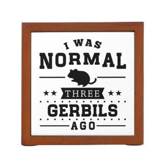 Porta-lápis Eu era três Gerbils normais há