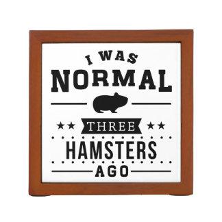 Porta-lápis Eu era três hamster normais há