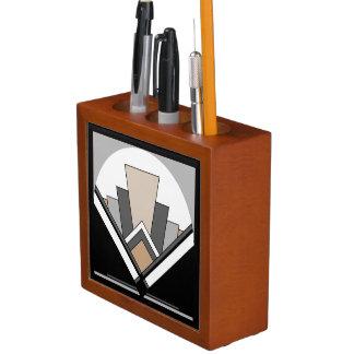 Porta-lápis Expressão do fã do art deco