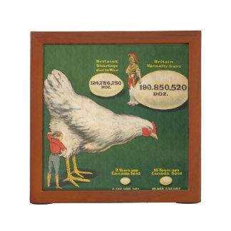 Porta-lápis Fazenda de galinha patriótica