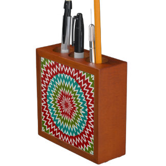 Porta-lápis Flor mandalaic hipnótica