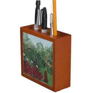 Porta-lápis Floresta tropical de Rousseau com o suporte da