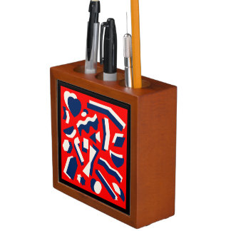 Porta-lápis Formas abstratas