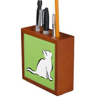 Porta Lápis Gato preto, suficiência branca
