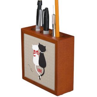 Porta-lápis Gatos no amor
