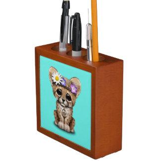 Porta-lápis Hippie bonito de Cub da chita