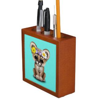 Porta-lápis Hippie bonito de Cub do puma