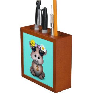 Porta Lápis Hippie bonito do hipopótamo do bebê
