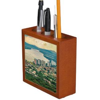 Porta-lápis Ideia aérea do subúrbio de Guayaquil do plano