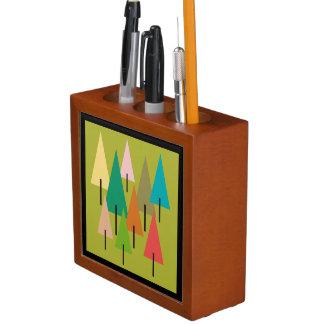 Porta-lápis Impressão da arte da árvore
