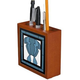 Porta-lápis Impressão do artista do azulejo da tulipa