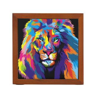 Porta Lápis Leão colorido