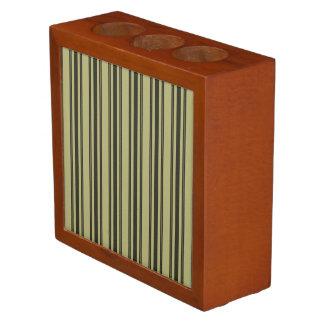 Porta Lápis Listra dobro preta de tiquetaque do colchão Khaki
