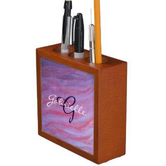 Porta Lápis Listra roxa cor-de-rosa conhecida adaptávela da