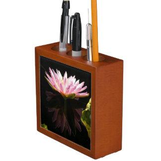 Porta-lápis Lotus cor-de-rosa Waterlily