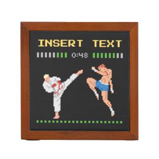 Porta Lápis Luta de jogo de vídeo feita sob encomenda do pixel