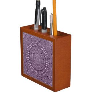 Porta-lápis Mandala malva