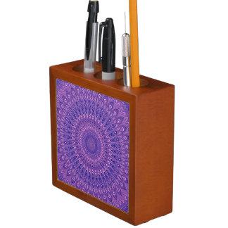Porta Lápis Mandala roxa