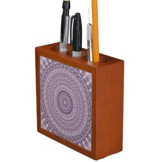 Porta Lápis Mandala roxa da pena