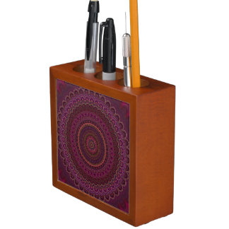 Porta Lápis Mandala roxa escura