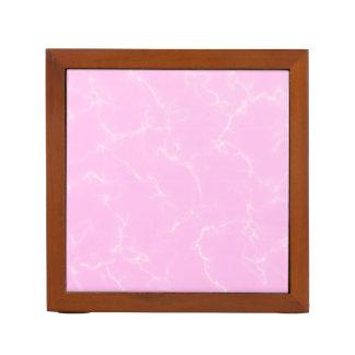 Porta-lápis Mármore elegante style5 - rosa das flores de