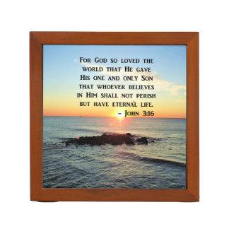 PORTA LÁPIS NASCER DO SOL DO 3:16 DE JOHN NA FOTO DO OCEANO