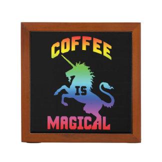 Porta Lápis O café é mágico - unicórnio engraçado da cafeína