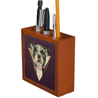 """Porta Lápis O """"filhote de cachorro Eyes"""" a aguarela do cão do"""