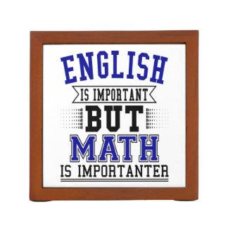 Porta-lápis O inglês é importante mas a matemática é chalaça