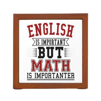 Porta Lápis O inglês é importante mas a matemática é chalaça