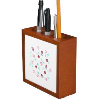 Porta-lápis O trevo floresce o organizador da mesa