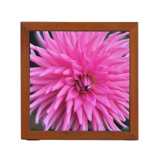 Porta-lápis Organizador cor-de-rosa da mesa da dália